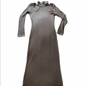 Charlotte Russe Tan Long Sleeve Sweater Dress